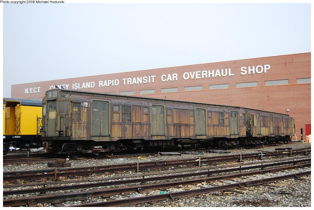 (251k, 1044x699)<br><b>Country:</b> United States<br><b>City:</b> New York<br><b>System:</b> New York City Transit<br><b>Location:</b> Coney Island Yard<br><b>Car:</b> R-6-3 (American Car & Foundry, 1935) 923 <br><b>Photo by:</b> Michael Hodurski<br><b>Date:</b> 4/12/2008<br><b>Viewed (this week/total):</b> 7 / 3502