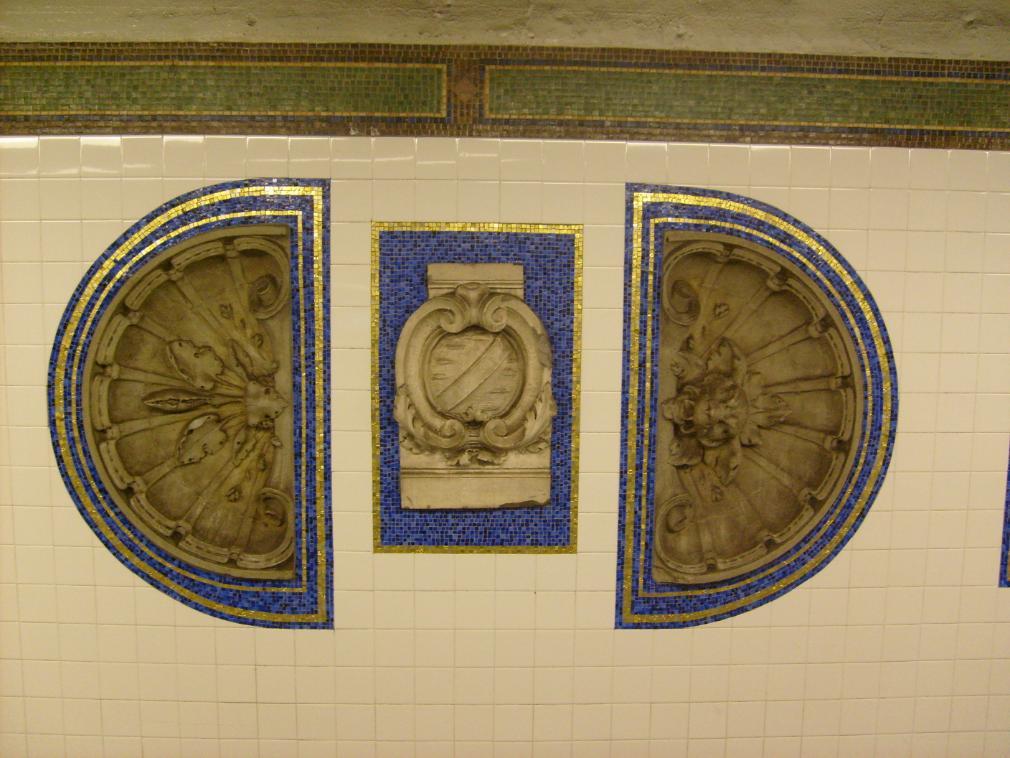 (139k, 1010x758)<br><b>Country:</b> United States<br><b>City:</b> New York<br><b>System:</b> New York City Transit<br><b>Line:</b> IRT Brooklyn Line<br><b>Location:</b> Eastern Parkway/Brooklyn Museum<br><b>Photo by:</b> Leonard Wilson<br><b>Date:</b> 4/18/2008<br><b>Artwork:</b> <i>New York City Architectural Artifacts from the Collection of the Brooklyn Museum</i>, MTA Arts For Transit Collaborative, 2004<br><b>Viewed (this week/total):</b> 0 / 2502