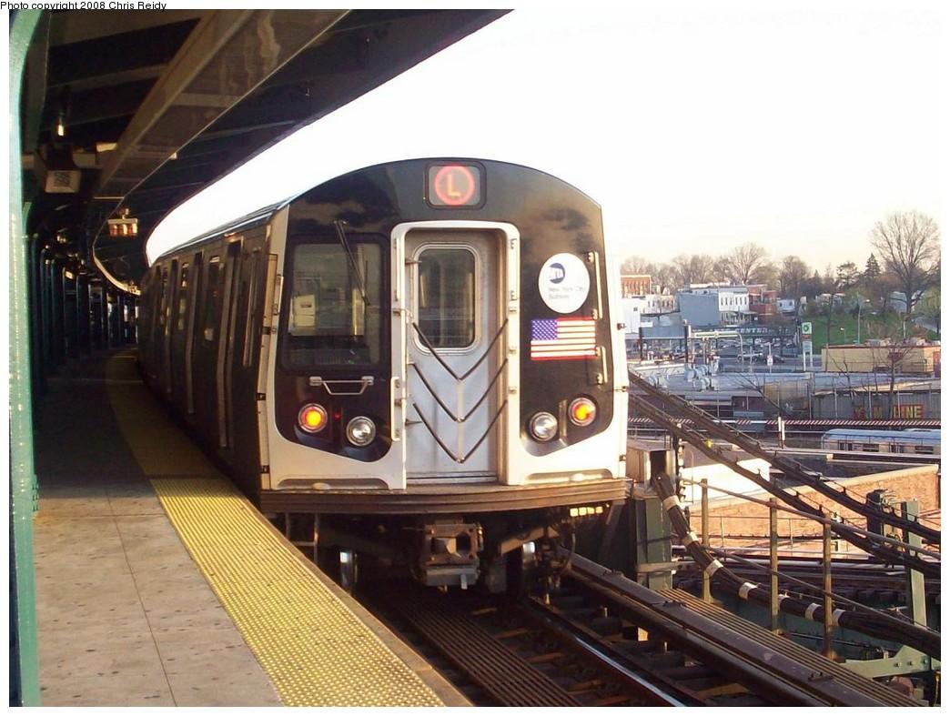 (218k, 1044x787)<br><b>Country:</b> United States<br><b>City:</b> New York<br><b>System:</b> New York City Transit<br><b>Line:</b> BMT Canarsie Line<br><b>Location:</b> Broadway Junction<br><b>Route:</b> L<br><b>Car:</b> R-143 (Kawasaki, 2001-2002) 8204 <br><b>Photo by:</b> Chris Reidy<br><b>Date:</b> 4/16/2008<br><b>Viewed (this week/total):</b> 2 / 1769