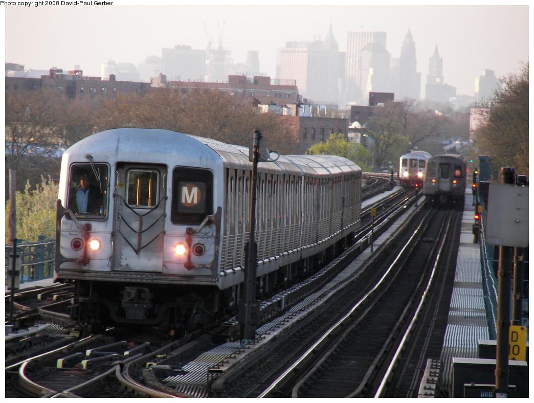 (268k, 1044x788)<br><b>Country:</b> United States<br><b>City:</b> New York<br><b>System:</b> New York City Transit<br><b>Line:</b> BMT West End Line<br><b>Location:</b> Bay 50th Street<br><b>Route:</b> M Layup<br><b>Car:</b> R-42 (St. Louis, 1969-1970)  <br><b>Photo by:</b> David-Paul Gerber<br><b>Date:</b> 4/22/2008<br><b>Viewed (this week/total):</b> 0 / 2736