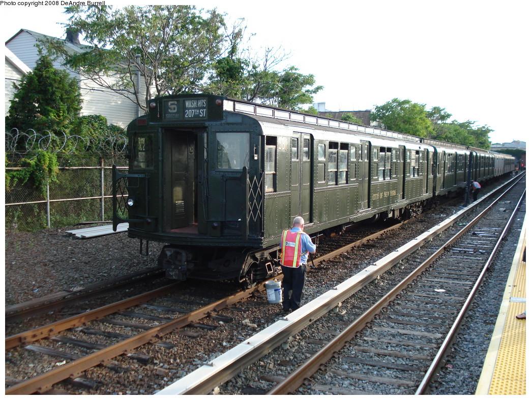 (336k, 1044x788)<br><b>Country:</b> United States<br><b>City:</b> New York<br><b>System:</b> New York City Transit<br><b>Location:</b> Rockaway Park Yard<br><b>Route:</b> Fan Trip<br><b>Car:</b> R-1 (American Car & Foundry, 1930-1931) 381 <br><b>Photo by:</b> DeAndre Burrell<br><b>Date:</b> 7/23/2007<br><b>Viewed (this week/total):</b> 0 / 2808