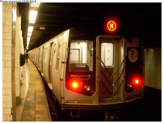 (116k, 660x500)<br><b>Country:</b> United States<br><b>City:</b> New York<br><b>System:</b> New York City Transit<br><b>Line:</b> BMT Nassau Street-Jamaica Line<br><b>Location:</b> Canal Street<br><b>Route:</b> M<br><b>Car:</b> R-160A-1 (Alstom, 2005-2008, 4 car sets)  <br><b>Photo by:</b> Bill E.<br><b>Date:</b> 5/9/2008<br><b>Viewed (this week/total):</b> 1 / 3115