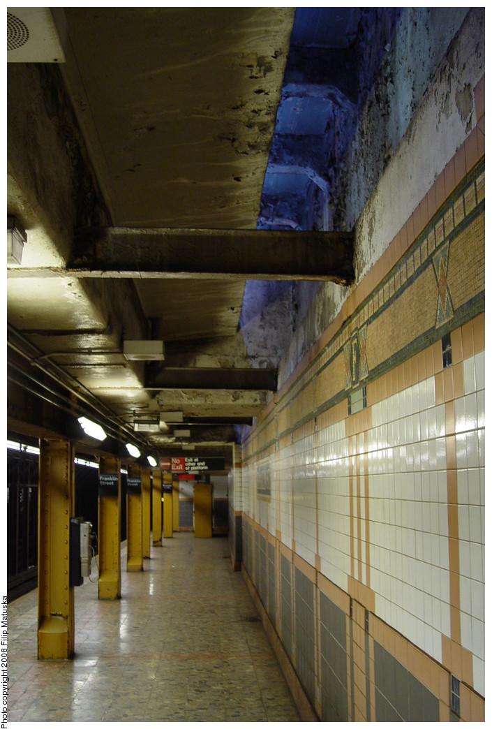 (191k, 705x1044)<br><b>Country:</b> United States<br><b>City:</b> New York<br><b>System:</b> New York City Transit<br><b>Line:</b> IRT West Side Line<br><b>Location:</b> Franklin Street<br><b>Photo by:</b> Filip Matuska<br><b>Date:</b> 6/8/2007<br><b>Viewed (this week/total):</b> 2 / 1714