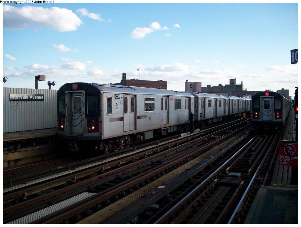 (184k, 1044x788)<br><b>Country:</b> United States<br><b>City:</b> New York<br><b>System:</b> New York City Transit<br><b>Line:</b> IRT White Plains Road Line<br><b>Location:</b> Intervale Avenue<br><b>Route:</b> 2<br><b>Car:</b> R-142 (Primary Order, Bombardier, 1999-2002) 6336 <br><b>Photo by:</b> John Barnes<br><b>Date:</b> 5/19/2008<br><b>Viewed (this week/total):</b> 1 / 2806