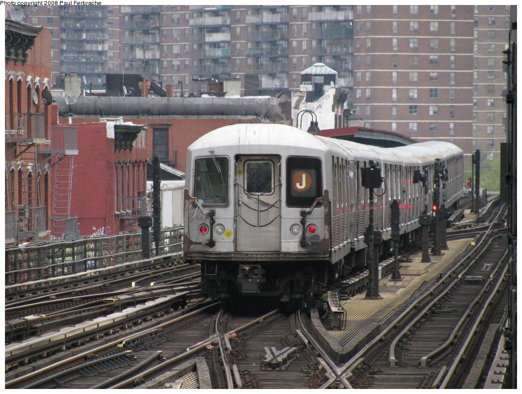 (289k, 1044x788)<br><b>Country:</b> United States<br><b>City:</b> New York<br><b>System:</b> New York City Transit<br><b>Line:</b> BMT Nassau Street-Jamaica Line<br><b>Location:</b> Marcy Avenue<br><b>Route:</b> J<br><b>Car:</b> R-42 (St. Louis, 1969-1970) 4617 <br><b>Photo by:</b> Paul Ferbrache<br><b>Date:</b> 5/1/2008<br><b>Viewed (this week/total):</b> 1 / 4771