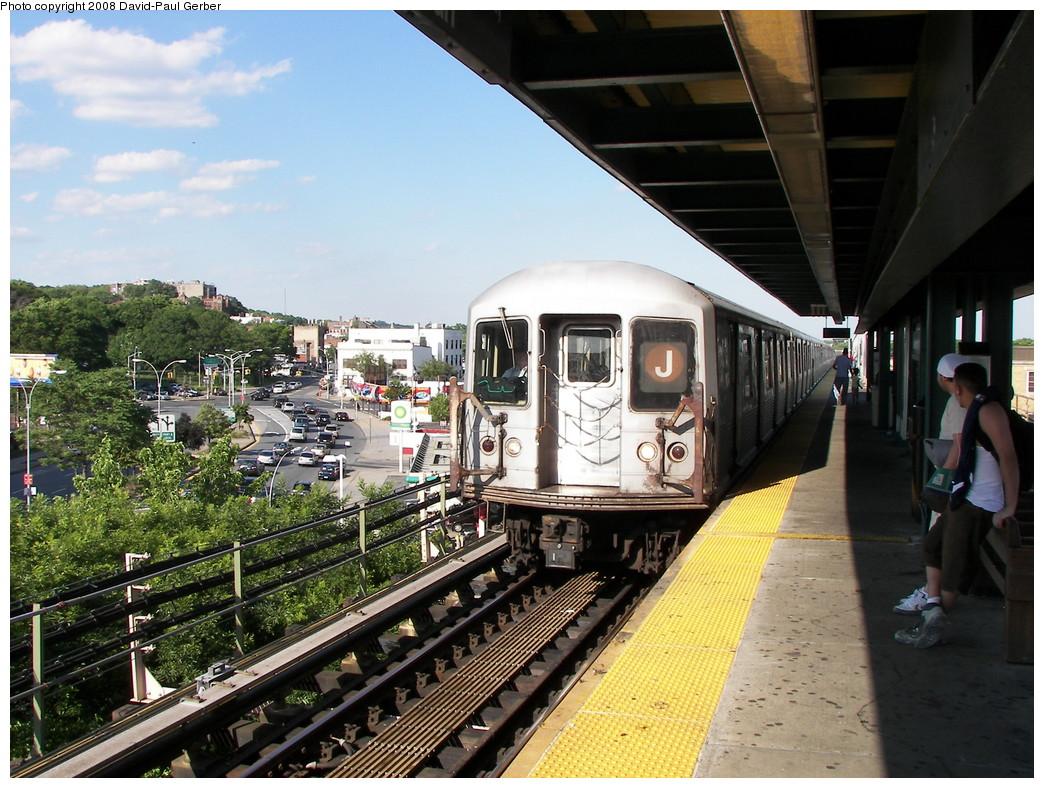 (317k, 1044x788)<br><b>Country:</b> United States<br><b>City:</b> New York<br><b>System:</b> New York City Transit<br><b>Line:</b> BMT Nassau Street-Jamaica Line<br><b>Location:</b> Alabama Avenue<br><b>Route:</b> J<br><b>Car:</b> R-42 (St. Louis, 1969-1970)  <br><b>Photo by:</b> David-Paul Gerber<br><b>Date:</b> 6/11/2008<br><b>Viewed (this week/total):</b> 2 / 1868