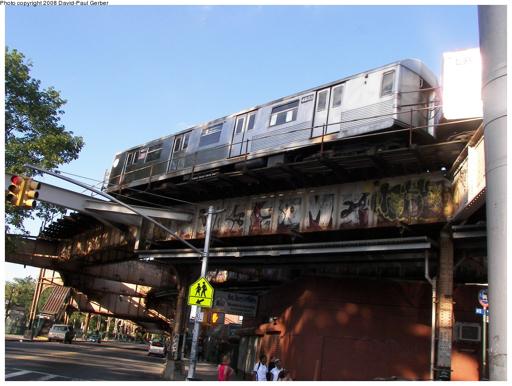 (293k, 1044x788)<br><b>Country:</b> United States<br><b>City:</b> New York<br><b>System:</b> New York City Transit<br><b>Line:</b> BMT Nassau Street-Jamaica Line<br><b>Location:</b> Cypress Hills<br><b>Route:</b> Z<br><b>Car:</b> R-42 (St. Louis, 1969-1970) 4833 <br><b>Photo by:</b> David-Paul Gerber<br><b>Date:</b> 6/11/2008<br><b>Viewed (this week/total):</b> 1 / 2952