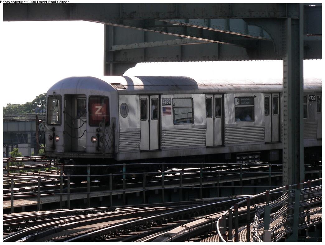 (263k, 1044x788)<br><b>Country:</b> United States<br><b>City:</b> New York<br><b>System:</b> New York City Transit<br><b>Line:</b> BMT Nassau Street-Jamaica Line<br><b>Location:</b> Alabama Avenue<br><b>Route:</b> Z<br><b>Car:</b> R-42 (St. Louis, 1969-1970) 4785 <br><b>Photo by:</b> David-Paul Gerber<br><b>Date:</b> 6/11/2008<br><b>Viewed (this week/total):</b> 5 / 2442