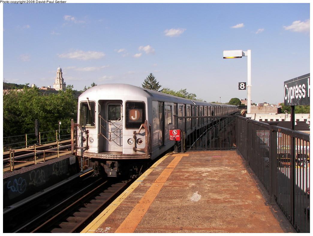 (285k, 1044x788)<br><b>Country:</b> United States<br><b>City:</b> New York<br><b>System:</b> New York City Transit<br><b>Line:</b> BMT Nassau Street-Jamaica Line<br><b>Location:</b> Cypress Hills<br><b>Route:</b> J<br><b>Car:</b> R-42 (St. Louis, 1969-1970) 4687 <br><b>Photo by:</b> David-Paul Gerber<br><b>Date:</b> 6/11/2008<br><b>Viewed (this week/total):</b> 3 / 2718