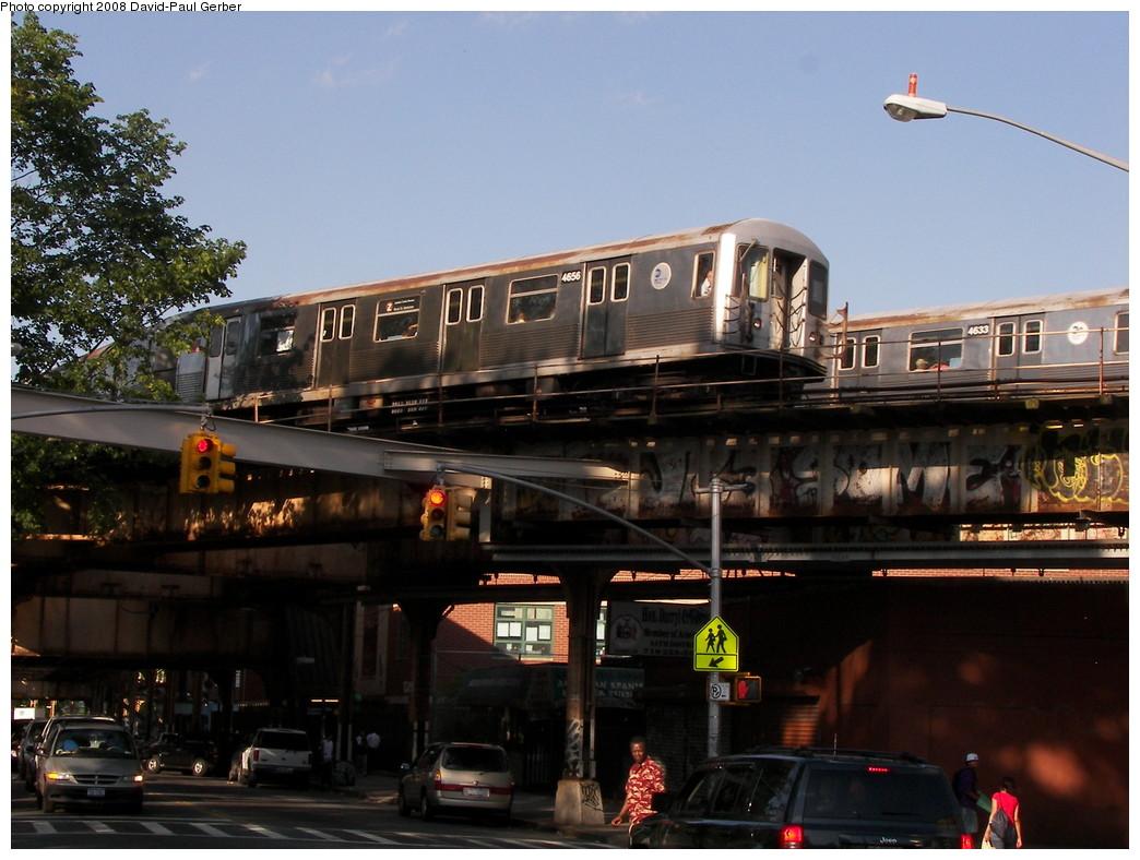 (267k, 1044x788)<br><b>Country:</b> United States<br><b>City:</b> New York<br><b>System:</b> New York City Transit<br><b>Line:</b> BMT Nassau Street-Jamaica Line<br><b>Location:</b> Cypress Hills<br><b>Route:</b> J<br><b>Car:</b> R-42 (St. Louis, 1969-1970) 4656 <br><b>Photo by:</b> David-Paul Gerber<br><b>Date:</b> 6/11/2008<br><b>Viewed (this week/total):</b> 4 / 3012