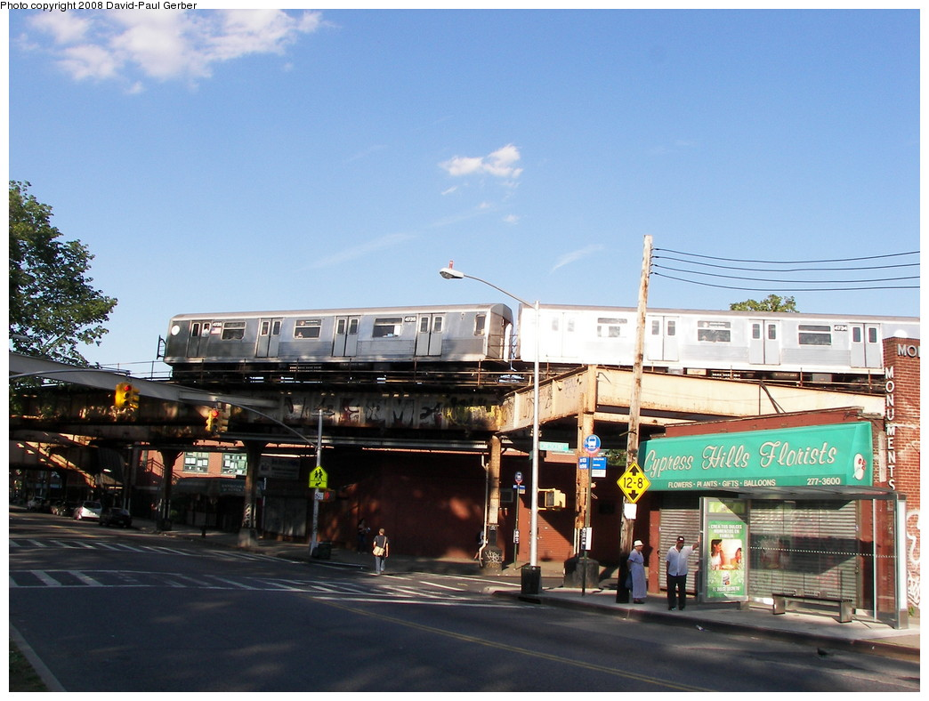 (267k, 1044x788)<br><b>Country:</b> United States<br><b>City:</b> New York<br><b>System:</b> New York City Transit<br><b>Line:</b> BMT Nassau Street-Jamaica Line<br><b>Location:</b> Cypress Hills<br><b>Route:</b> J<br><b>Car:</b> R-42 (St. Louis, 1969-1970) 4735 <br><b>Photo by:</b> David-Paul Gerber<br><b>Date:</b> 6/11/2008<br><b>Viewed (this week/total):</b> 4 / 2978