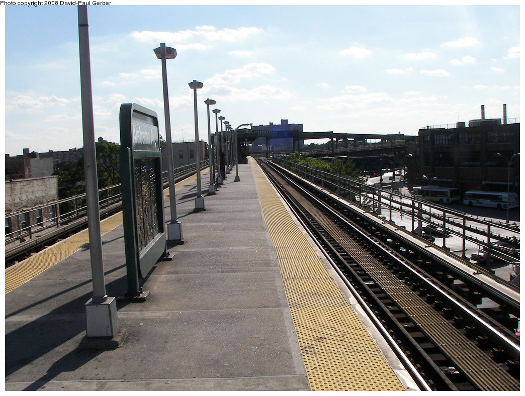 (302k, 1044x788)<br><b>Country:</b> United States<br><b>City:</b> New York<br><b>System:</b> New York City Transit<br><b>Line:</b> BMT Nassau Street-Jamaica Line<br><b>Location:</b> Alabama Avenue<br><b>Photo by:</b> David-Paul Gerber<br><b>Date:</b> 6/11/2008<br><b>Notes:</b> Platform view.<br><b>Viewed (this week/total):</b> 0 / 1537