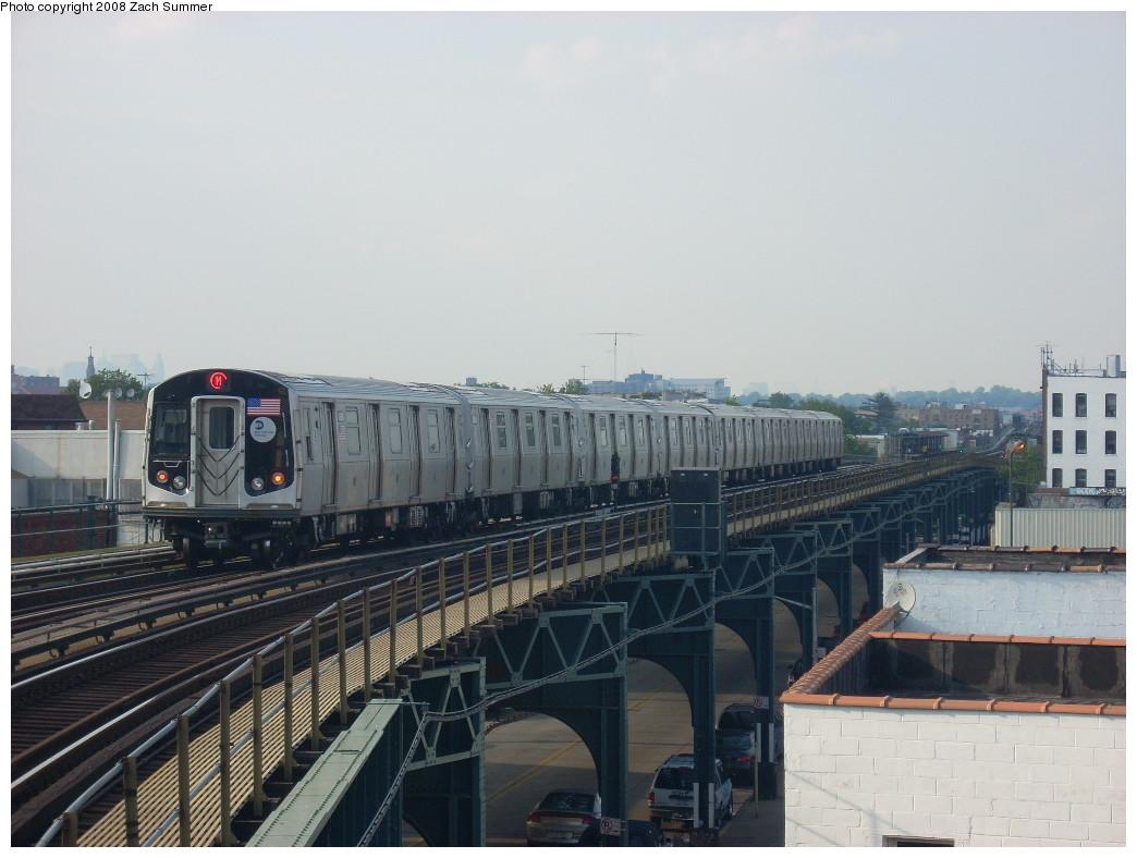 (212k, 1044x788)<br><b>Country:</b> United States<br><b>City:</b> New York<br><b>System:</b> New York City Transit<br><b>Line:</b> BMT West End Line<br><b>Location:</b> 18th Avenue<br><b>Route:</b> M<br><b>Car:</b> R-160A-1 (Alstom, 2005-2008, 4 car sets) 8360 <br><b>Photo by:</b> Zach Summer<br><b>Date:</b> 6/26/2008<br><b>Viewed (this week/total):</b> 0 / 2004
