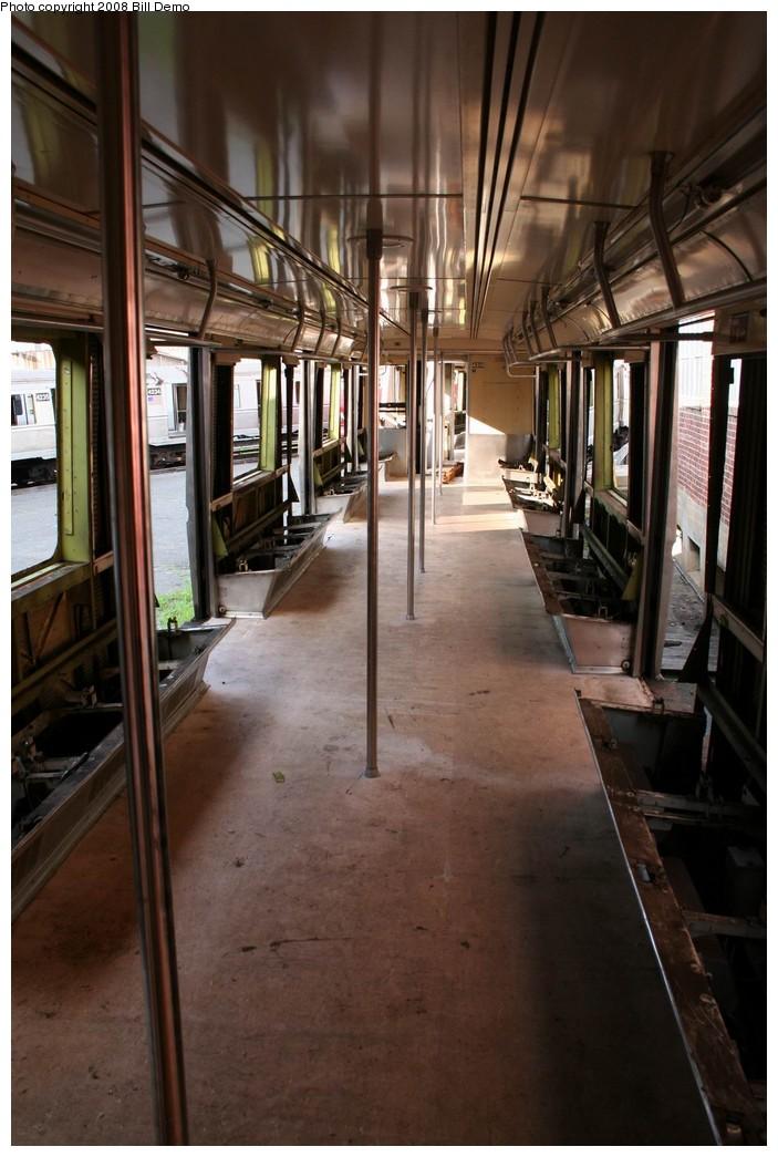 (182k, 703x1045)<br><b>Country:</b> United States<br><b>City:</b> New York<br><b>System:</b> New York City Transit<br><b>Location:</b> 207th Street Yard<br><b>Car:</b> R-40 (St. Louis, 1968)  <br><b>Photo by:</b> Pete Monty<br><b>Collection of:</b> Bill Demo<br><b>Date:</b> 6/16/2008<br><b>Notes:</b> Being stripped for scrapping.<br><b>Viewed (this week/total):</b> 0 / 2251