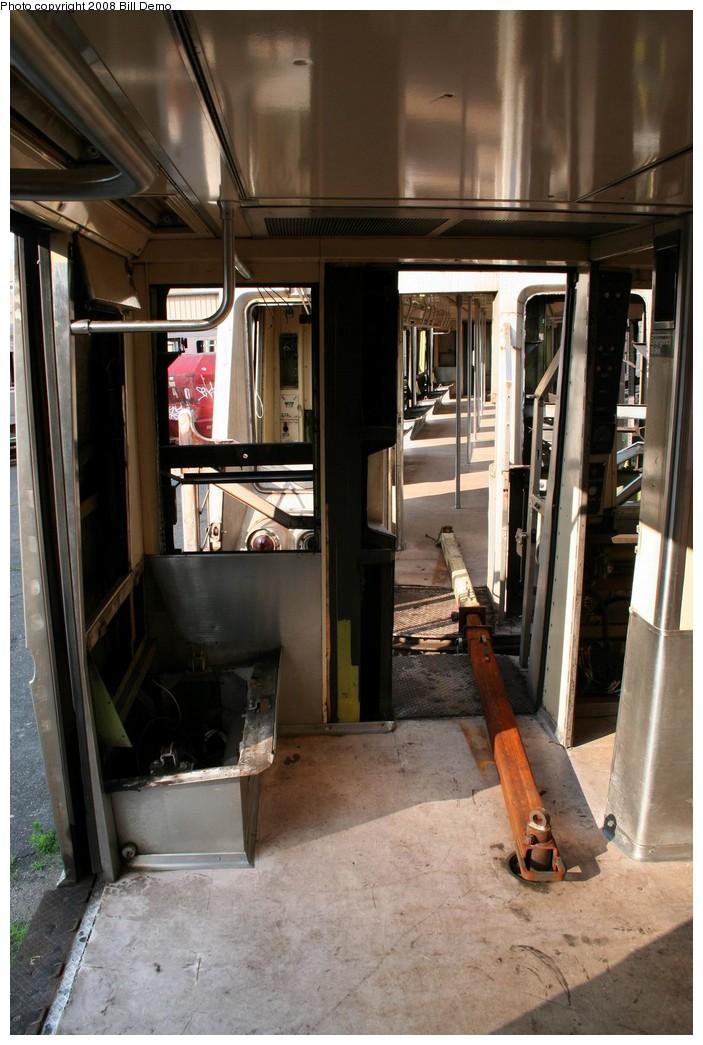 (193k, 703x1045)<br><b>Country:</b> United States<br><b>City:</b> New York<br><b>System:</b> New York City Transit<br><b>Location:</b> 207th Street Yard<br><b>Car:</b> R-40 (St. Louis, 1968)  <br><b>Photo by:</b> Pete Monty<br><b>Collection of:</b> Bill Demo<br><b>Date:</b> 6/16/2008<br><b>Notes:</b> Being stripped for scrapping.<br><b>Viewed (this week/total):</b> 0 / 2181