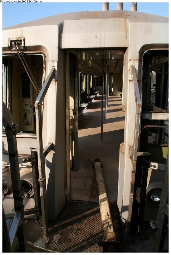(179k, 703x1045)<br><b>Country:</b> United States<br><b>City:</b> New York<br><b>System:</b> New York City Transit<br><b>Location:</b> 207th Street Yard<br><b>Car:</b> R-40 (St. Louis, 1968)  <br><b>Photo by:</b> Pete Monty<br><b>Collection of:</b> Bill Demo<br><b>Date:</b> 6/16/2008<br><b>Notes:</b> Being stripped for scrapping.<br><b>Viewed (this week/total):</b> 0 / 2318