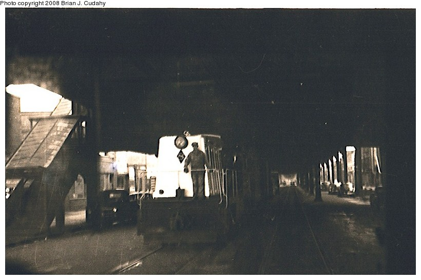 (109k, 820x546)<br><b>Country:</b> United States<br><b>City:</b> New York<br><b>System:</b> New York City Transit<br><b>Line:</b> BMT Culver Line<br><b>Location:</b> Kings Highway<br><b>Car:</b> Whitcomb Locomotive 8 <br><b>Photo by:</b> Brian J. Cudahy<br><b>Date:</b> 1956<br><b>Notes:</b> South Brooklyn diesel No. 8 heading toward Coney Island, under the Culver El at McDonald Avenue & Kings Highway.<br><b>Viewed (this week/total):</b> 3 / 3118