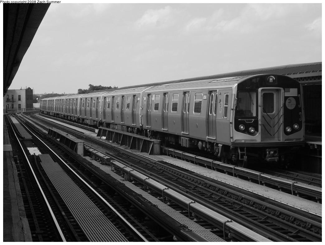 (230k, 1044x788)<br><b>Country:</b> United States<br><b>City:</b> New York<br><b>System:</b> New York City Transit<br><b>Line:</b> BMT West End Line<br><b>Location:</b> 18th Avenue<br><b>Route:</b> M<br><b>Car:</b> R-160A-1 (Alstom, 2005-2008, 4 car sets) 8360 <br><b>Photo by:</b> Zach Summer<br><b>Date:</b> 6/30/2008<br><b>Viewed (this week/total):</b> 1 / 1650