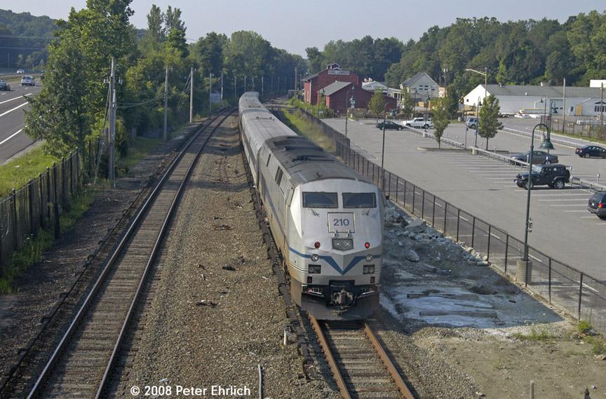 (240k, 864x569)<br><b>Country:</b> United States<br><b>System:</b> Metro-North Railroad (or Amtrak or Predecessor RR)<br><b>Line:</b> Metro North-Harlem Line<br><b>Location:</b> Golden's Bridge<br><b>Car:</b> MNRR GE Genesis P-32AC-DM 210 <br><b>Photo by:</b> Peter Ehrlich<br><b>Date:</b> 7/22/2008<br><b>Notes:</b> Inbound Saturday morning-only through train from Wassaic.<br><b>Viewed (this week/total):</b> 0 / 991