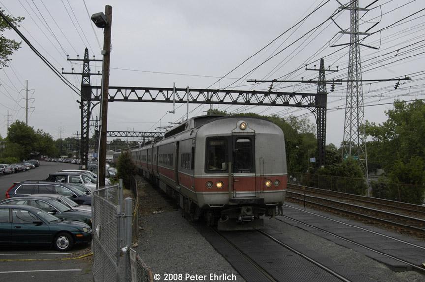 (186k, 864x574)<br><b>Country:</b> United States<br><b>System:</b> Metro-North Railroad (or Amtrak or Predecessor RR)<br><b>Line:</b> Metro North-New Haven Line<br><b>Location:</b> Noroton Heights<br><b>Car:</b> MNRR M-6 EMU (Morrison-Knudsen) 9031 <br><b>Photo by:</b> Peter Ehrlich<br><b>Date:</b> 7/22/2008<br><b>Notes:</b> Inbound.<br><b>Viewed (this week/total):</b> 1 / 982