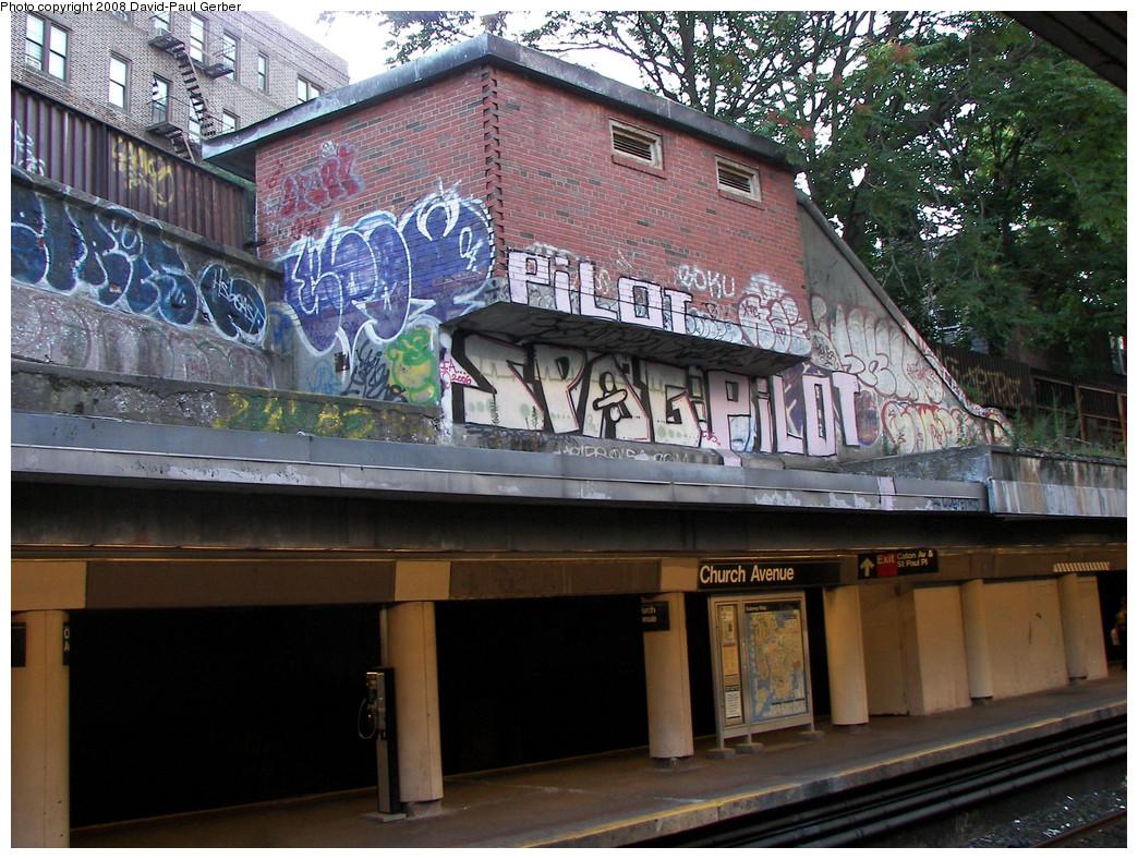 (351k, 1044x788)<br><b>Country:</b> United States<br><b>City:</b> New York<br><b>System:</b> New York City Transit<br><b>Line:</b> BMT Brighton Line<br><b>Location:</b> Church Avenue<br><b>Photo by:</b> David-Paul Gerber<br><b>Date:</b> 8/1/2008<br><b>Notes:</b> Disused exit on southbound platform to East 18th St. between Church & Caton Aves.<br><b>Viewed (this week/total):</b> 3 / 2998