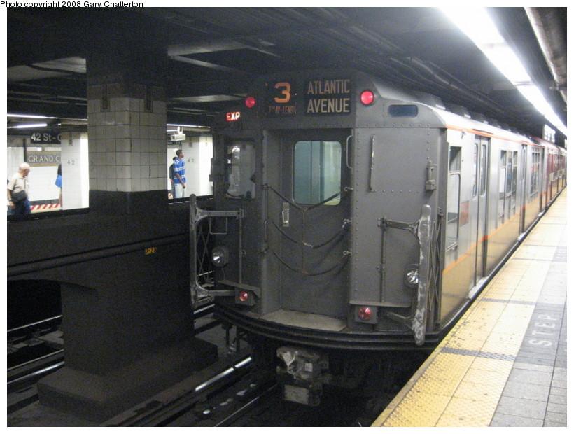 (145k, 820x620)<br><b>Country:</b> United States<br><b>City:</b> New York<br><b>System:</b> New York City Transit<br><b>Line:</b> IRT East Side Line<br><b>Location:</b> Grand Central<br><b>Route:</b> Transit Museum Nostalgia Train<br><b>Car:</b> R-12 (American Car & Foundry, 1948) 5760 <br><b>Photo by:</b> Gary Chatterton<br><b>Date:</b> 8/2/2008<br><b>Viewed (this week/total):</b> 1 / 2151