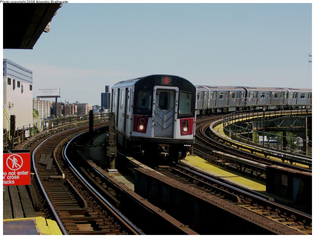 (274k, 1044x791)<br><b>Country:</b> United States<br><b>City:</b> New York<br><b>System:</b> New York City Transit<br><b>Line:</b> IRT Pelham Line<br><b>Location:</b> Whitlock Avenue<br><b>Route:</b> 6<br><b>Car:</b> R-142A (Primary Order, Kawasaki, 1999-2002) 7455 <br><b>Photo by:</b> Aliandro Brathwaite<br><b>Date:</b> 8/20/2008<br><b>Viewed (this week/total):</b> 5 / 2563
