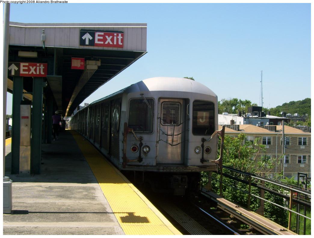 (257k, 1044x791)<br><b>Country:</b> United States<br><b>City:</b> New York<br><b>System:</b> New York City Transit<br><b>Line:</b> BMT Nassau Street-Jamaica Line<br><b>Location:</b> Van Siclen Avenue<br><b>Route:</b> J<br><b>Car:</b> R-42 (St. Louis, 1969-1970) 4839 <br><b>Photo by:</b> Aliandro Brathwaite<br><b>Date:</b> 8/20/2008<br><b>Viewed (this week/total):</b> 1 / 2252