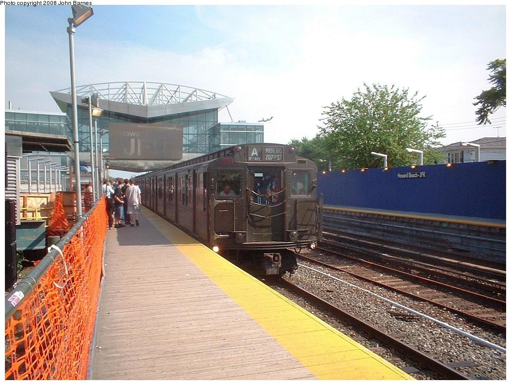 (257k, 1044x788)<br><b>Country:</b> United States<br><b>City:</b> New York<br><b>System:</b> New York City Transit<br><b>Line:</b> IND Rockaway Line<br><b>Location:</b> Howard Beach/JFK Airport<br><b>Route:</b> Fan Trip<br><b>Car:</b> R-4 (American Car & Foundry, 1932-1933) 484 <br><b>Photo by:</b> John Barnes<br><b>Date:</b> 6/28/2003<br><b>Viewed (this week/total):</b> 1 / 2095