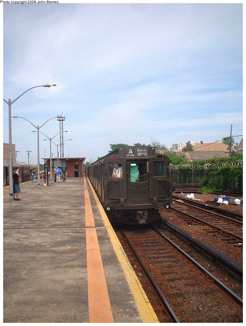(237k, 788x1044)<br><b>Country:</b> United States<br><b>City:</b> New York<br><b>System:</b> New York City Transit<br><b>Line:</b> IND Rockaway Line<br><b>Location:</b> Rockaway Park/Beach 116th Street<br><b>Route:</b> Fan Trip<br><b>Car:</b> R-4 (American Car & Foundry, 1932-1933) 484 <br><b>Photo by:</b> John Barnes<br><b>Date:</b> 6/28/2003<br><b>Viewed (this week/total):</b> 2 / 1623
