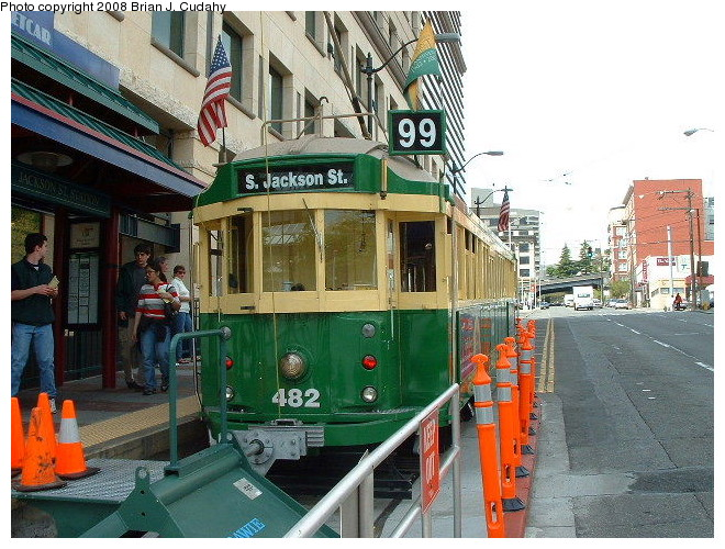 (145k, 660x500)<br><b>Country:</b> United States<br><b>City:</b> Seattle, WA<br><b>System:</b> Seattle Waterfront Streetcar<br><b>Location:</b> Jackson/5th Terminal<br><b>Car:</b>  482 <br><b>Photo by:</b> Brian J. Cudahy<br><b>Date:</b> 6/3/2004<br><b>Viewed (this week/total):</b> 0 / 821