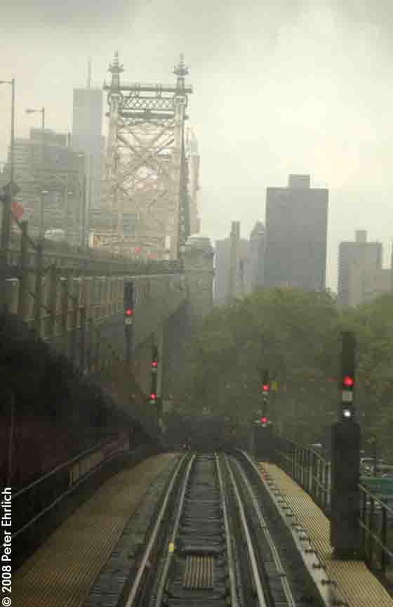 (48k, 560x864)<br><b>Country:</b> United States<br><b>City:</b> New York<br><b>System:</b> New York City Transit<br><b>Line:</b> BMT Astoria Line<br><b>Location:</b> Queensborough Plaza<br><b>Photo by:</b> Peter Ehrlich<br><b>Date:</b> 9/28/2008<br><b>Notes:</b> View descending into 60th Street Tunnel after leaving Queensboro Plaza.<br><b>Viewed (this week/total):</b> 21 / 2980