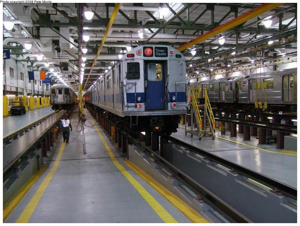 (248k, 1044x788)<br><b>Country:</b> United States<br><b>City:</b> New York<br><b>System:</b> New York City Transit<br><b>Location:</b> Corona Shops<br><b>Car:</b> R-33 Main Line (St. Louis, 1962-63) 9010 <br><b>Photo by:</b> Pete Monty<br><b>Date:</b> 10/14/2008<br><b>Viewed (this week/total):</b> 11 / 3562