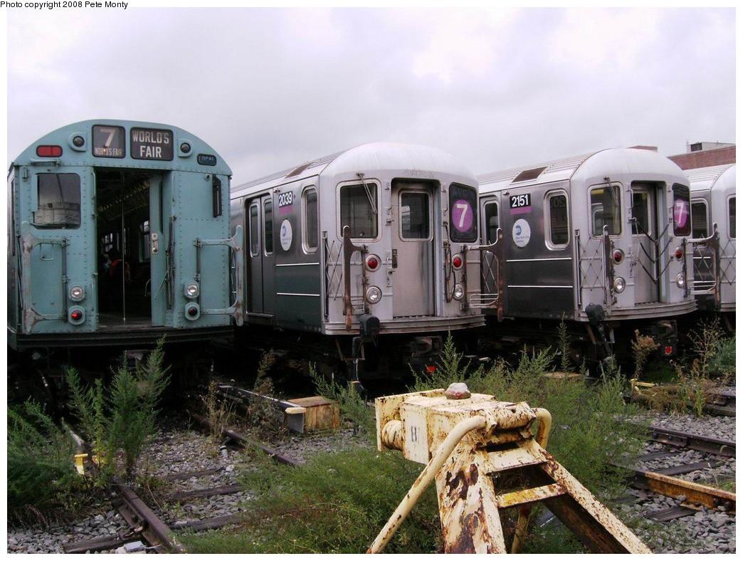 (235k, 1044x788)<br><b>Country:</b> United States<br><b>City:</b> New York<br><b>System:</b> New York City Transit<br><b>Location:</b> Corona Yard<br><b>Car:</b> R-33 World's Fair (St. Louis, 1963-64) 9306 <br><b>Photo by:</b> Pete Monty<br><b>Date:</b> 10/14/2008<br><b>Viewed (this week/total):</b> 13 / 2661