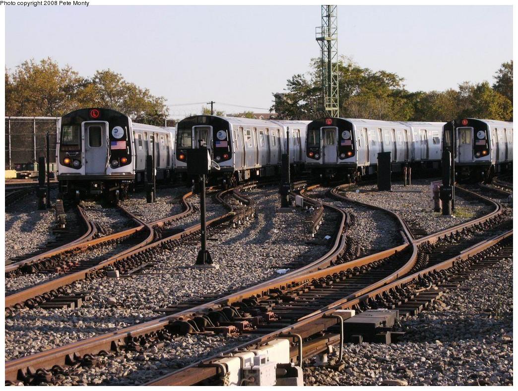 (310k, 1044x788)<br><b>Country:</b> United States<br><b>City:</b> New York<br><b>System:</b> New York City Transit<br><b>Location:</b> Rockaway Parkway (Canarsie) Yard<br><b>Car:</b> R-143 (Kawasaki, 2001-2002)  <br><b>Photo by:</b> Pete Monty<br><b>Date:</b> 10/14/2008<br><b>Viewed (this week/total):</b> 10 / 2848