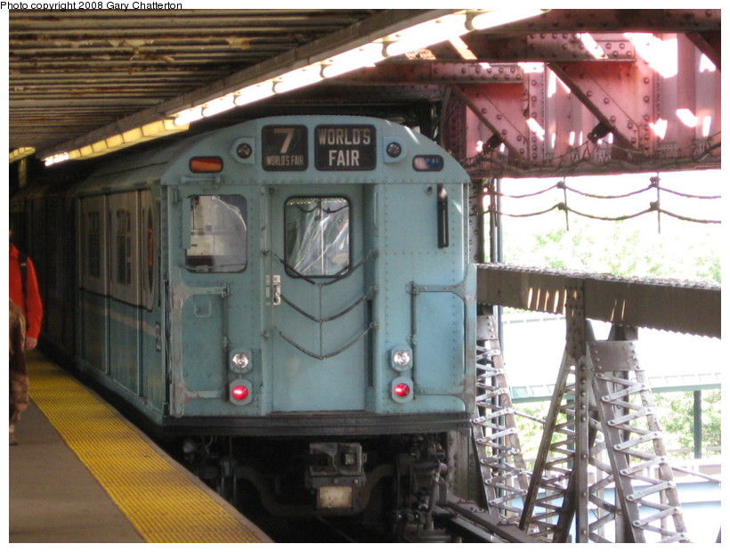(145k, 820x620)<br><b>Country:</b> United States<br><b>City:</b> New York<br><b>System:</b> New York City Transit<br><b>Line:</b> IRT Flushing Line<br><b>Location:</b> Queensborough Plaza<br><b>Car:</b> R-33 World's Fair (St. Louis, 1963-64) 9306 <br><b>Photo by:</b> Gary Chatterton<br><b>Date:</b> 10/9/2008<br><b>Viewed (this week/total):</b> 0 / 2704