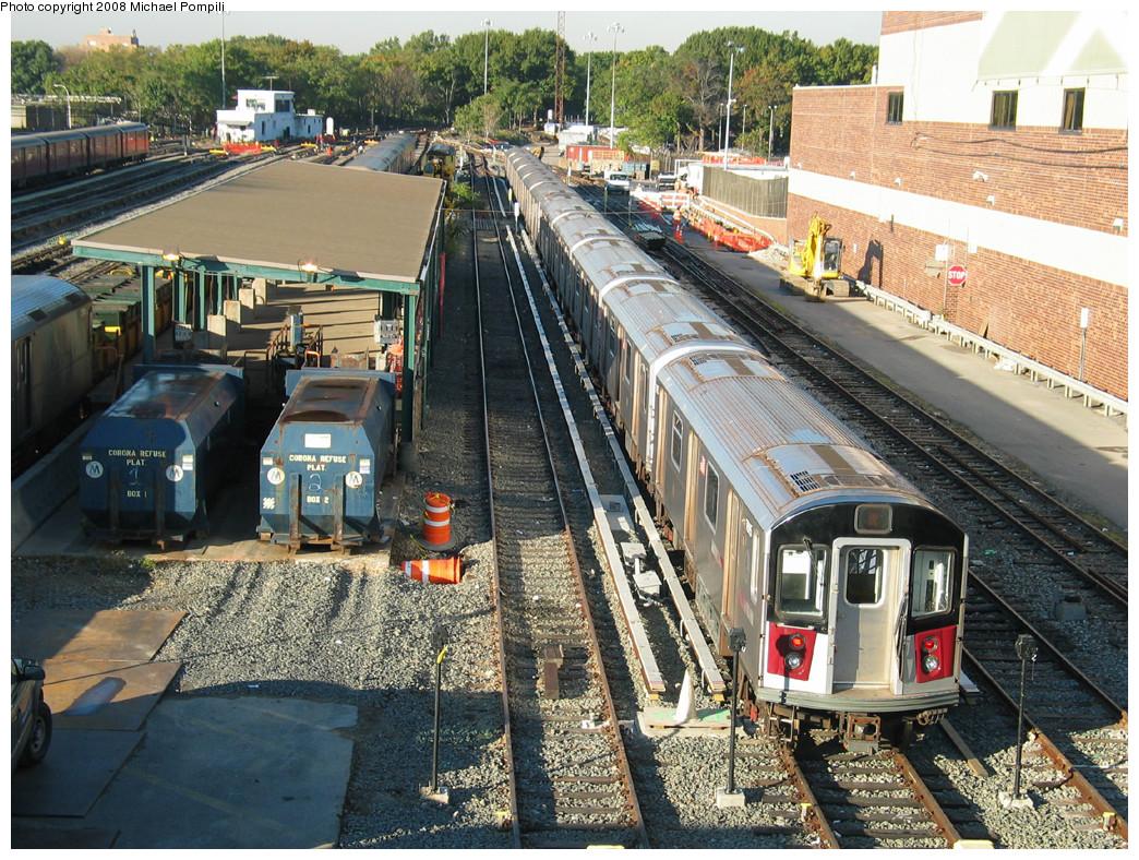 (400k, 1044x788)<br><b>Country:</b> United States<br><b>City:</b> New York<br><b>System:</b> New York City Transit<br><b>Location:</b> Corona Yard<br><b>Car:</b> R-142A (Option Order, Kawasaki, 2002-2003) 7695 <br><b>Photo by:</b> Michael Pompili<br><b>Date:</b> 10/20/2003<br><b>Viewed (this week/total):</b> 1 / 2701