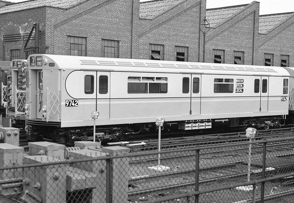 (498k, 1016x702)<br><b>Country:</b> United States<br><b>City:</b> New York<br><b>System:</b> New York City Transit<br><b>Location:</b> East 180th Street Yard<br><b>Car:</b> R-36 World's Fair (St. Louis, 1963-64) 9742 <br><b>Collection of:</b> Collection of nycsubway.org<br><b>Date:</b> 1969<br><b>Viewed (this week/total):</b> 0 / 2103