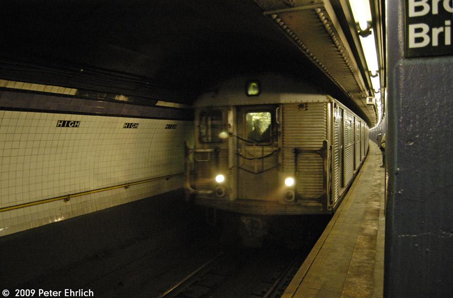 (189k, 930x611)<br><b>Country:</b> United States<br><b>City:</b> New York<br><b>System:</b> New York City Transit<br><b>Line:</b> IND 8th Avenue Line<br><b>Location:</b> High Street/Brooklyn Bridge<br><b>Route:</b> C<br><b>Car:</b> R-32 (Budd, 1964) 3419 <br><b>Photo by:</b> Peter Ehrlich<br><b>Date:</b> 2/24/2009<br><b>Notes:</b> Inbound<br><b>Viewed (this week/total):</b> 0 / 2341