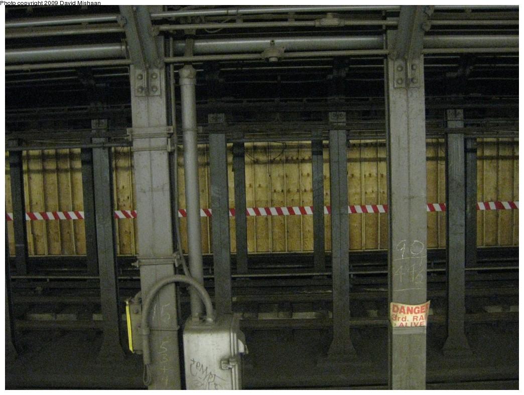 (227k, 1044x788)<br><b>Country:</b> United States<br><b>City:</b> New York<br><b>System:</b> New York City Transit<br><b>Line:</b> IRT East Side Line<br><b>Location:</b> Bleecker Street<br><b>Photo by:</b> David M. <br><b>Date:</b> 2/19/2009<br><b>Notes:</b> Northbound platform lengthening for new transfer to Bway/Lafayette.<br><b>Viewed (this week/total):</b> 7 / 2892